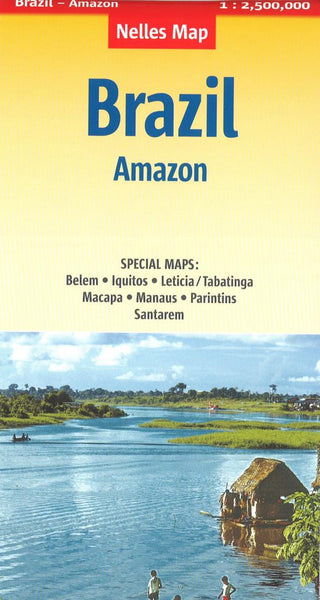 Buy map Brazil and the Amazon Basin by Nelles Verlag GmbH