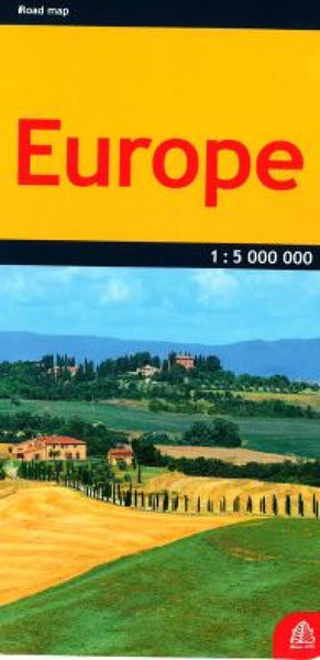 Buy map Europe, road map by Jana Seta