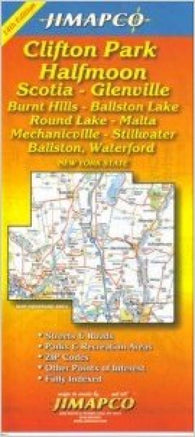 Buy map Clifton Park and Halfmoon, New York by Jimapco