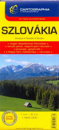 Buy map Slovakia by Cartographia