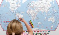 Buy map World, Doodle Map with Crayons by Maps International Ltd.