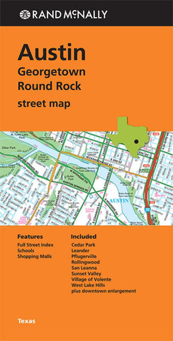 Buy map Austin, Georgetown and Round Rock, Texas by Rand McNally