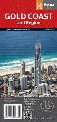 Buy map Gold Coast, Australia, and Region by Hema Maps