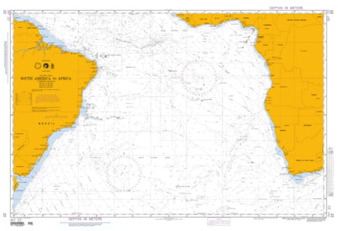 Buy map South America To Africa (NGA-22-1) by National Geospatial-Intelligence Agency