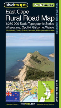 Buy map East Cape, New Zealand, Rural Roads Topographic Map by Kiwi Maps