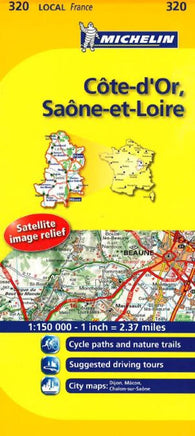 Buy map Cote D Or, Seine Et Loire (320) by Michelin Maps and Guides
