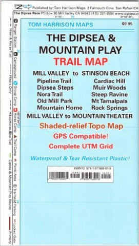 Buy map Dipsea and Mountain Play, California by Tom Harrison Maps