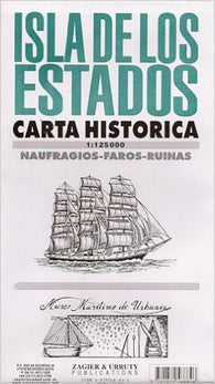 Buy map Isla de los Estados Historical Map by Zagier y Urruty