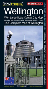 Buy map Wellington, Complete, New Zealand, Metromap by Kiwi Maps