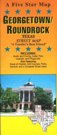 Buy map Georgetown and Round Rock, Texas by Five Star Maps, Inc.