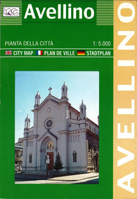Buy map Avellino, Italy by Litografia Artistica Cartografica