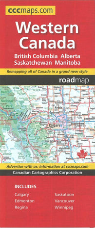 Buy map Western Canada Map by Canadian Cartographics Corporation