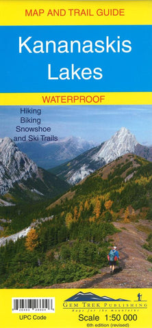 Buy map Kananaskis Lakes Map and Trail Guide (waterproof) by Gem Trek