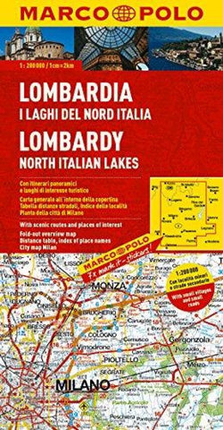 Buy map Lombardy and Northern Italian Lakes by Marco Polo Travel Publishing Ltd