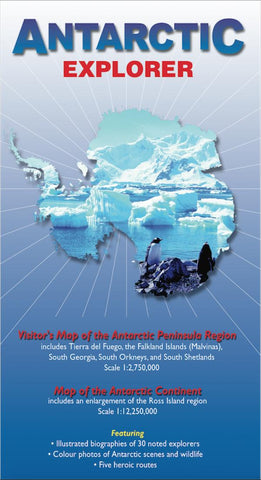 Buy map Antarctic Explorer Map by Ocean Explorer Maps