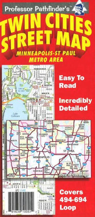 Buy map Twin Cities, Minnesota (494/694 loop) by Hedberg Maps
