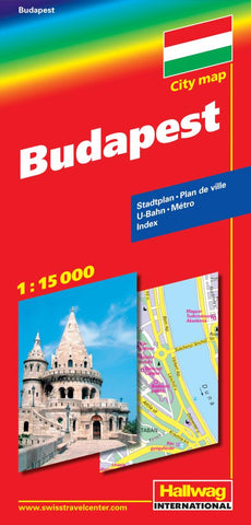 Buy map Budapest, Hungary by Hallwag