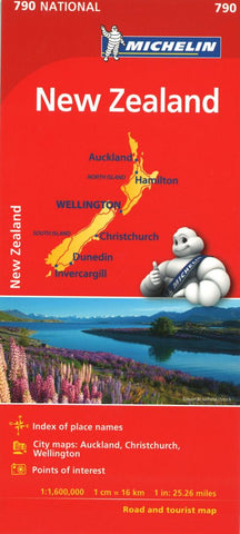 Buy map Micchelin: New Zealand Road and Tourist Map by Michelin Travel Partner