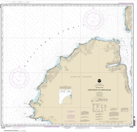 Buy map Cape Ikolik to Cape Kuliuk (16598-10) by NOAA
