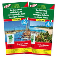 Buy map Sardinia Map Pack, North and South + Top 10 Booklet by
