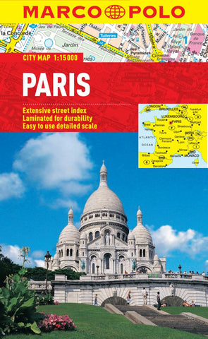 Buy map Paris, France by Marco Polo Travel Publishing Ltd