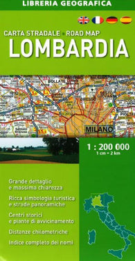 Buy map Lombardia, Italy, Road Map by Libreria Geografica
