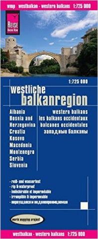 Buy map Balkans, Western by Reise Know-How Verlag