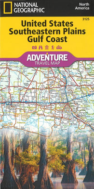 Buy map U.S. Southeastern Plains, Gulf Coast Adventure Map (3125) by National Geographic Maps