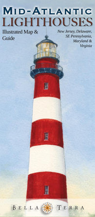 Buy map Mid-Atlantic Lighthouses Map by Bella Terra Publishing LLC