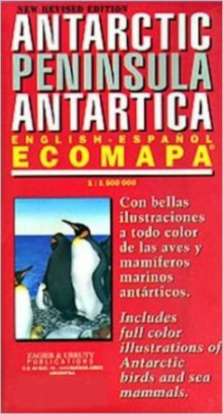 Buy map Antarctic Peninsula Ecomapa by Zagier y Urruty