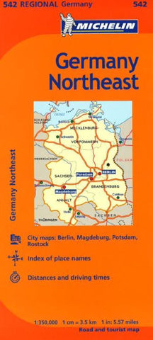Buy map Germany, Northeast (542) by Michelin Maps and Guides