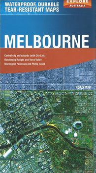 Buy map Melbourne, Australia by Explore Australia