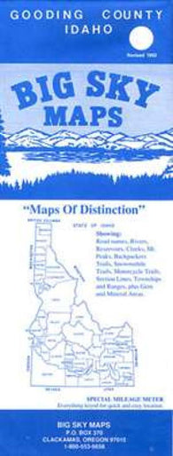 Buy map Gooding County, Idaho by Big Sky Maps
