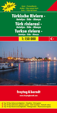 Buy map Turkey Riviera and Antalya-Side-Alanya by Freytag-Berndt und Artaria