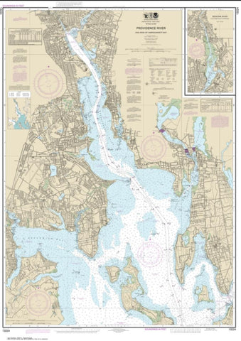 Buy map Providence River and Head of Narragansett Bay (13224-40) by NOAA