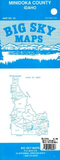 Buy map Minidoka County, Idaho by Big Sky Maps