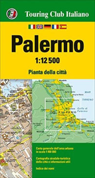 Buy map Palermo, Italy by Touring Club Italiano