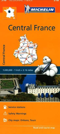 Buy map Central France, Michelin Regional Map by Michelin Maps and Guides