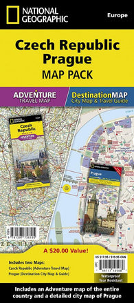 Buy map Czech Republic, Prague Map Pack Bundle by National Geographic Maps
