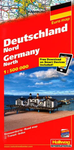 Buy map Germany, North, Road Map by Hallwag