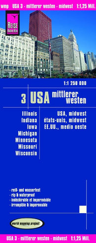 Buy map United States, Midwest by Reise Know-How Verlag