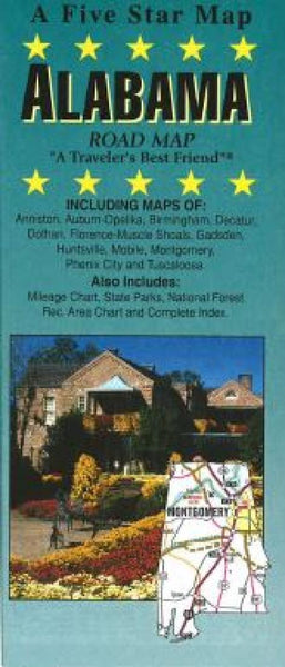 Buy map Alabama by Five Star Maps, Inc.