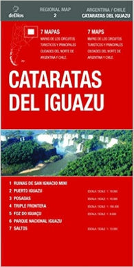 Buy map Cataratas Del Iguazu, Argentina and Brazil by deDios