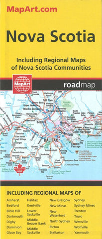 Buy map Nova Scotia Road Map by MapArt Corporation