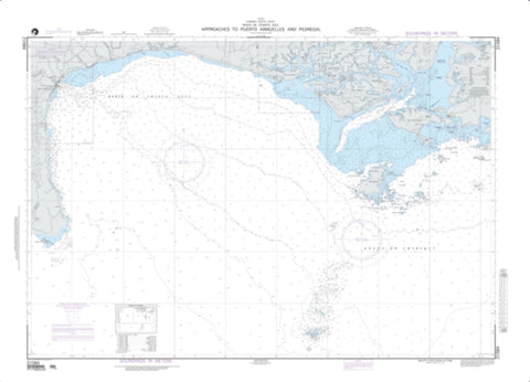 Buy map Approaches To Puerto Armuelles And Pedregal (NGA-21584-2) by National Geospatial-Intelligence Agency