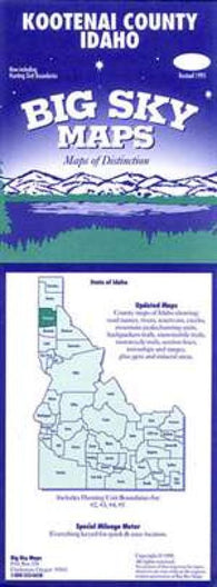Buy map Kootenai County, Idaho by Big Sky Maps