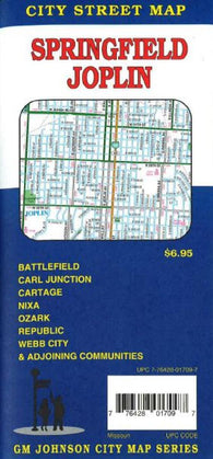Buy map Springfield and Joplin, MO by GM Johnson