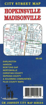 Buy map Hopkinsville and Madisonville, Kentucky by GM Johnson