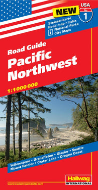 Buy map USA 1: Pacific Northwest by Hallwag