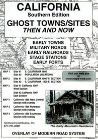 Buy map California, South, Ghost Towns, 6-Map Set, Then and Now by Northwest Distributors